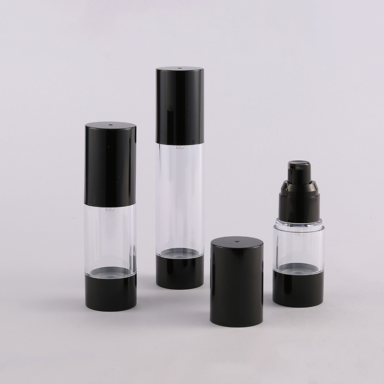 A027 AS material lotion container airless serum round bottle