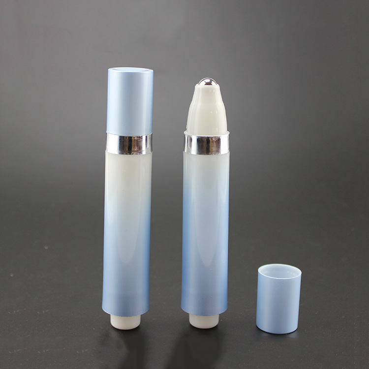 AY-10ml 15ml hot sale airless plastic roll on bottle for eye cream