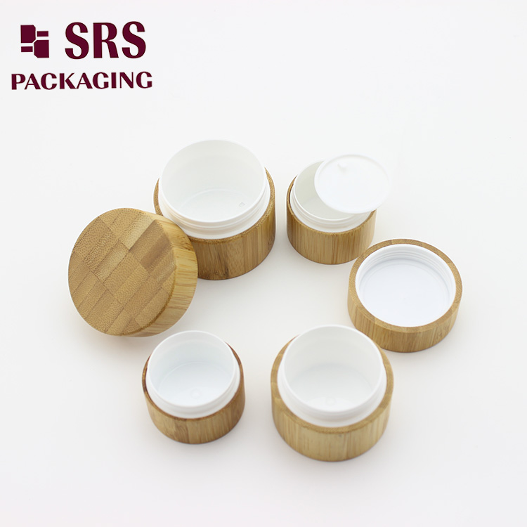 15g 20g 30g 50g cosmetic bamboo empty cream jar