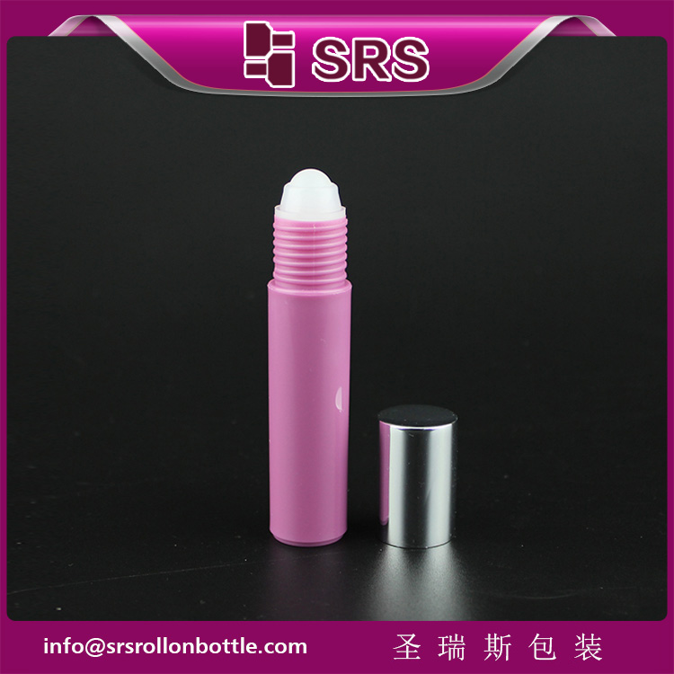 10ml rose red Color Empty Roller Ball Bottle for Lip Balm