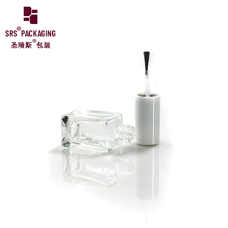 Wholesale Pretty empty different kinds of clear 8ml empty glass bottle of nail polish