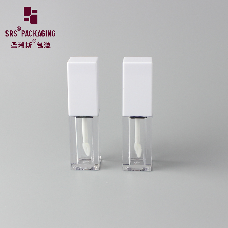 Square High Quality Cosmetics Empty 7ml Customized plastic lip gloss tube With Applicator