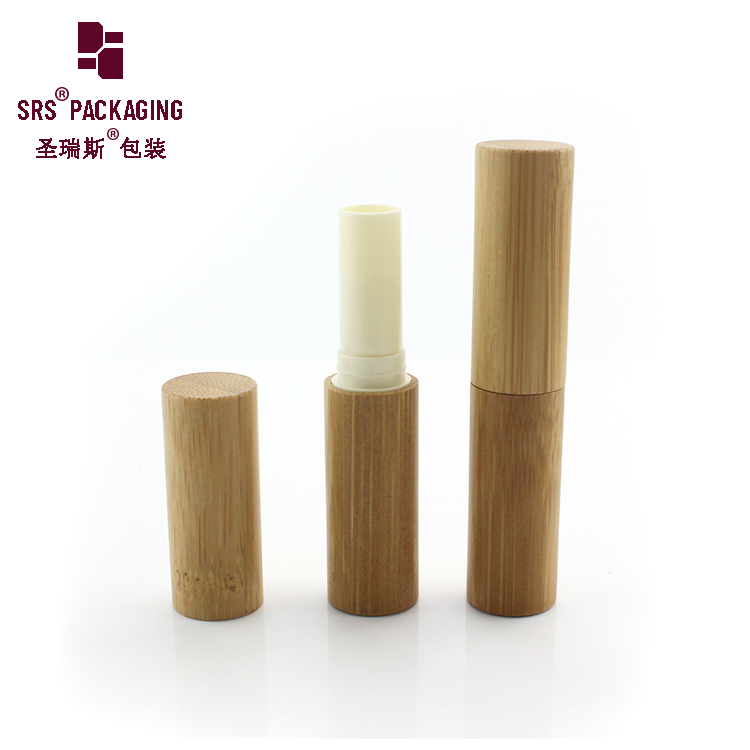 Private label nice empty hot selling custom bamboo lipgloss packaging with bamboo cap