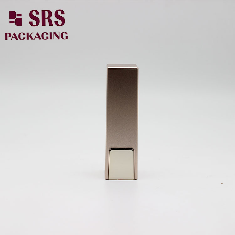 SRS cosmetics eco-friendly packaging case makeup gold empty plastic 5ml lip balm tube