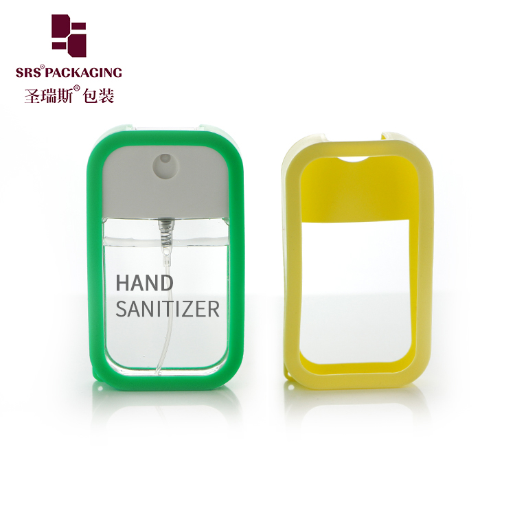 Wholesale Empty Portable Alcohol Mist sanitizer Sprayer Bottle 40Ml With Silicon Case