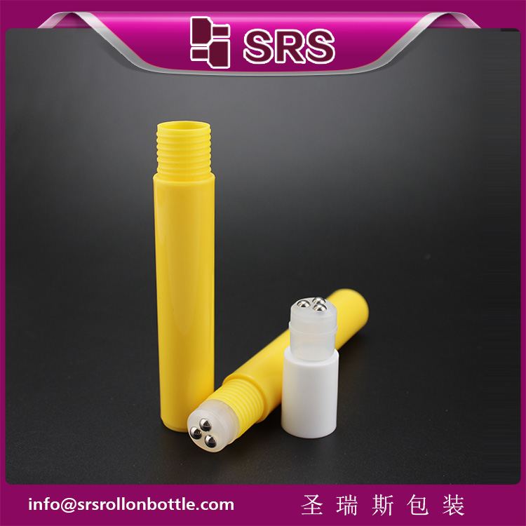 RPP-10ml 15ml 20ml PP empty roller body emulsion bottle with three steel ball