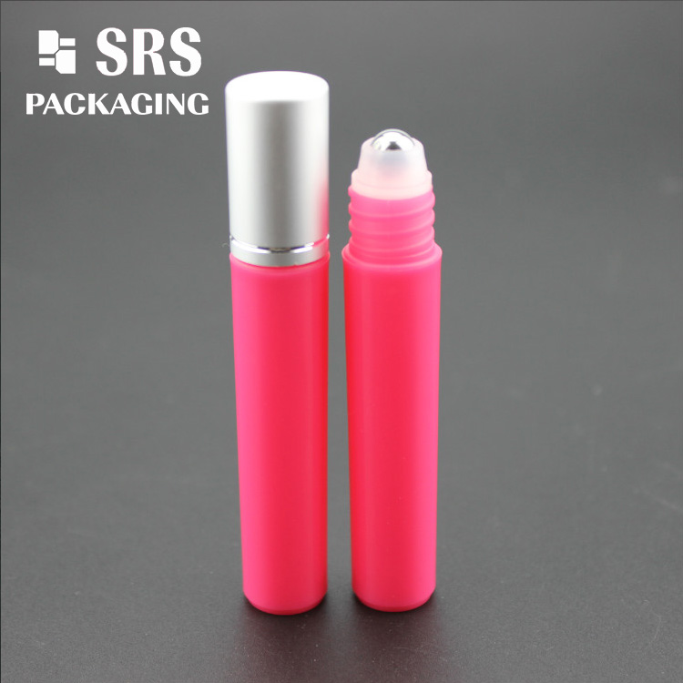SRS PP Red Color 15ml Perfume Roll on Bottle empty