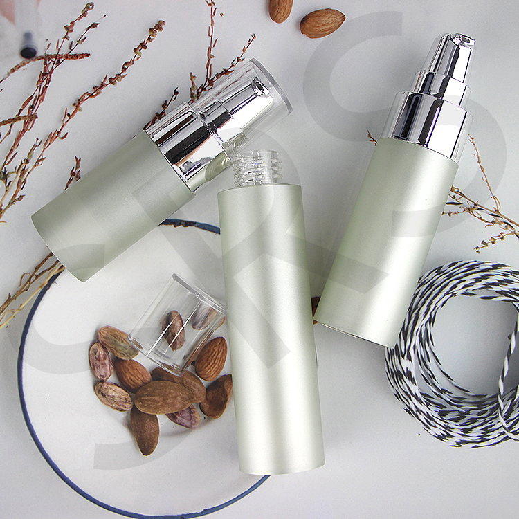15ml 30ml 50ml beauty foundation airless silver pump bottle