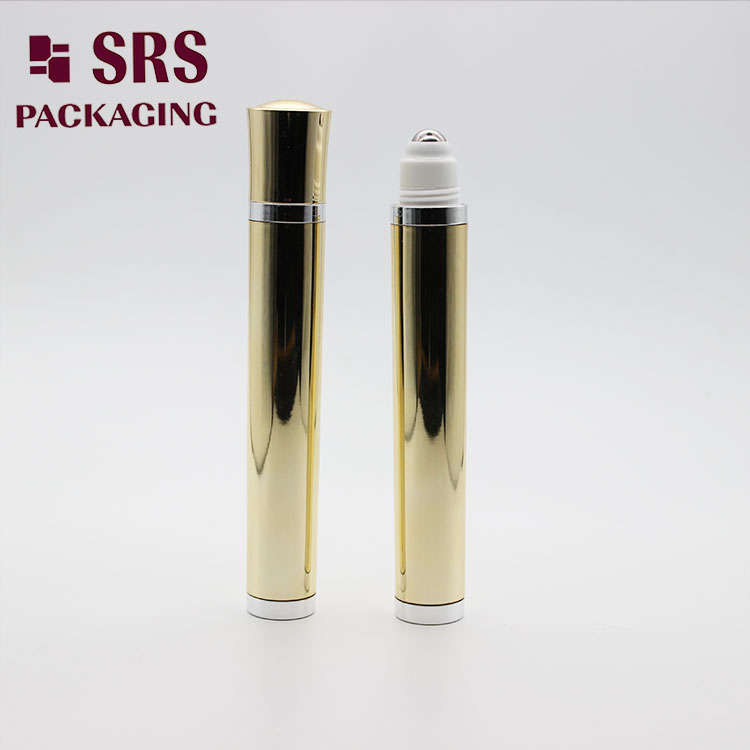 DR004 Luxury 10ml Gold Vibrating Roll on Cosmetic Bottle Massage Eye