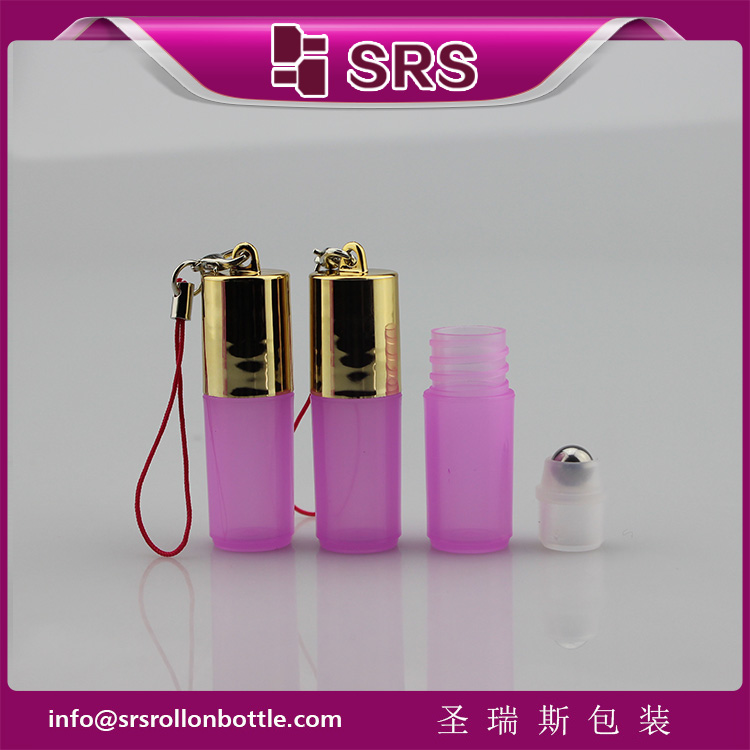 DH-3ml 5ml 7ml 8ml olive oil use sample empty plastic roller bottle with hook