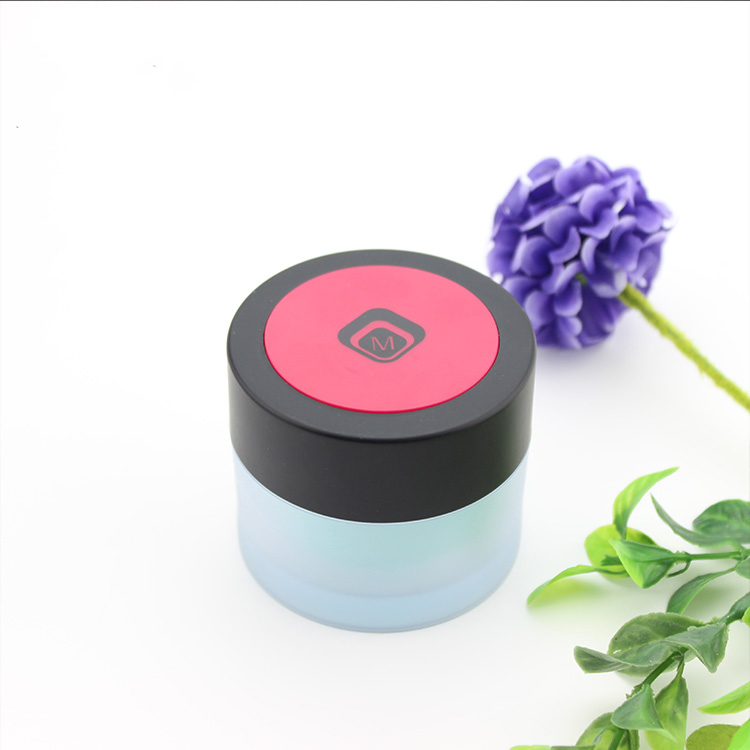 J0210A thin wall acrylic frost round jar 50ml