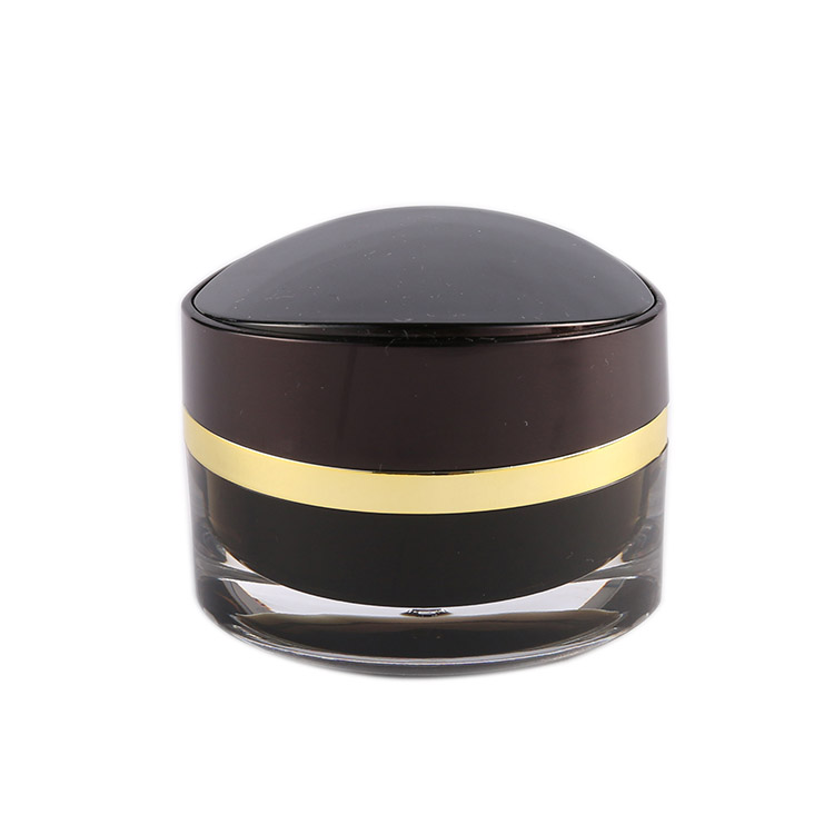 J104 acrylic facial mask jar eye shape cosmetic container