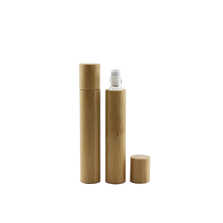 10ml bamboo glass roll-on bottle for perfume 100pcs