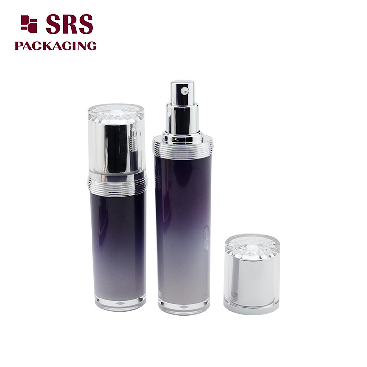 L302 cosmetic acrylic bottle 30ml 50ml 100ml 120ml skin care lotion container with pump