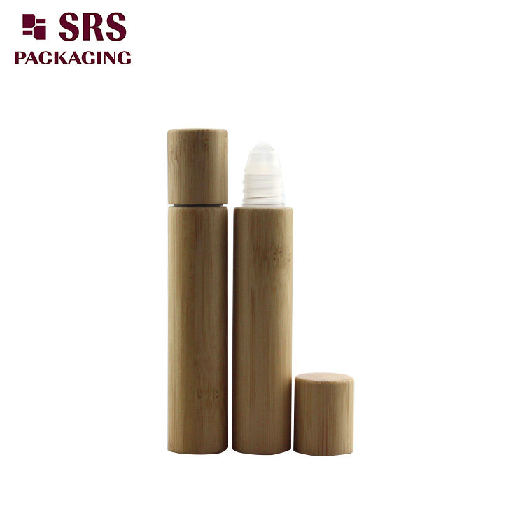 BPP-8ml cosmetic bamboo plastic roller bottle 100pcs