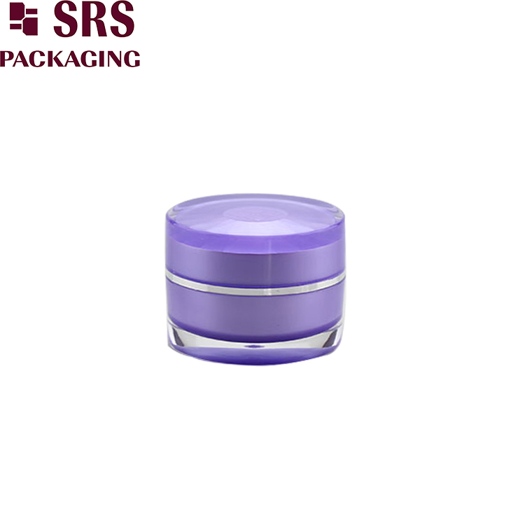 J301 round 15ml 30ml 50ml acrylic cream jar with decorative design cap
