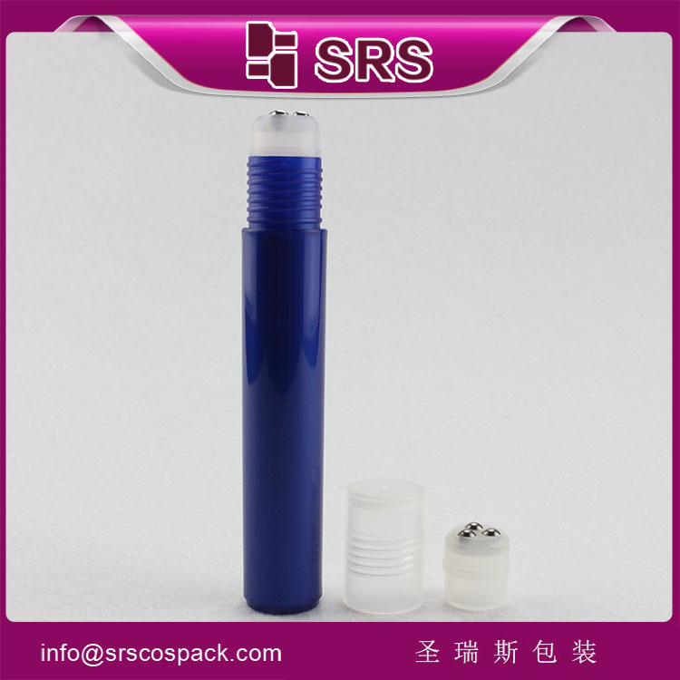 SRS empty 15ml plastic three roller balls bottles wholesale