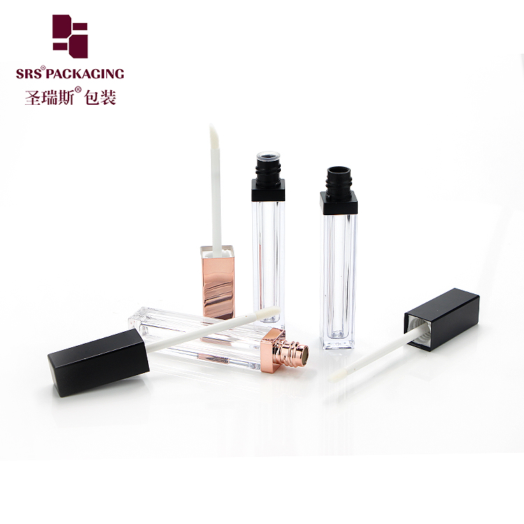 5ml glossy transparent beauty elegant empty lip gloss tube container