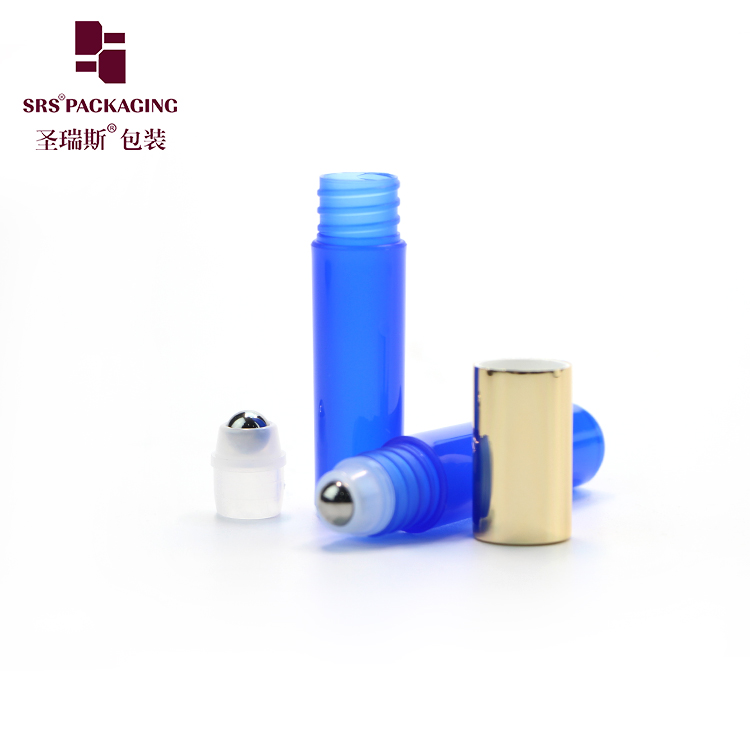 5ml plastic empty no leakage lip gloss colorful bottle Roller Ball Container