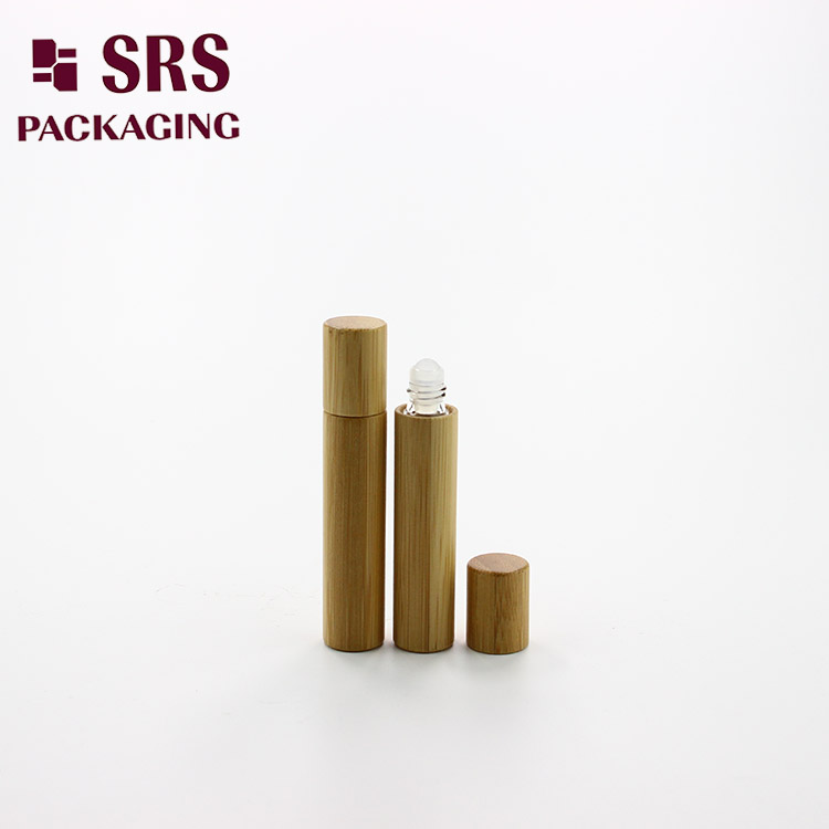 8ml elegant cosmetic round empty roller ball bamboo glass botters