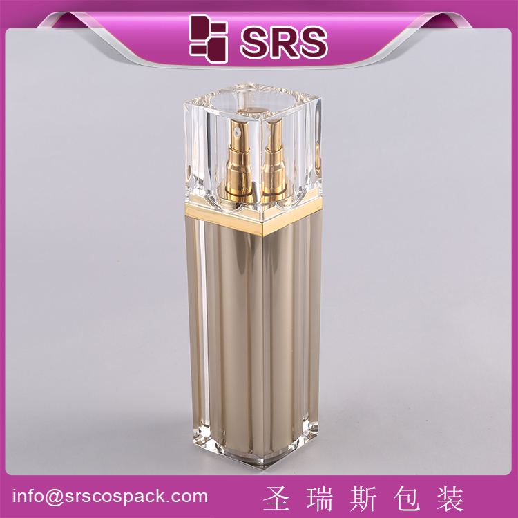 A055 acrylic square airless pump clear bottle