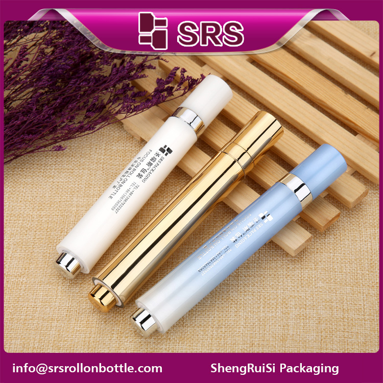 SRS empty 15ml Colorful Eye Serum Roller Bottle