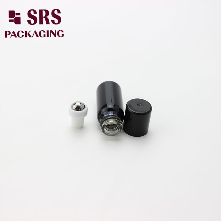 3ml Black Painting Color Lip Gloss Container with Black Plastic Cap
