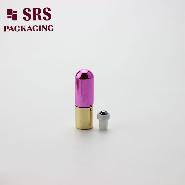 SRS Metalized Glass Round Bottom 3ml Roller Bottle
