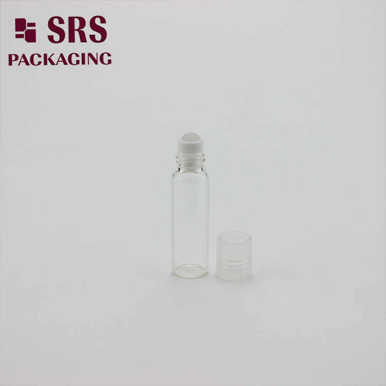 Clear Glass Cosmetic Packaging 5ml Roll on Essential Oil Bottle
