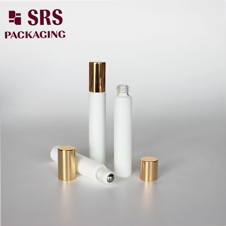 SRS 8ml Round Hair Oil Customized Color Glass Roller Bottle