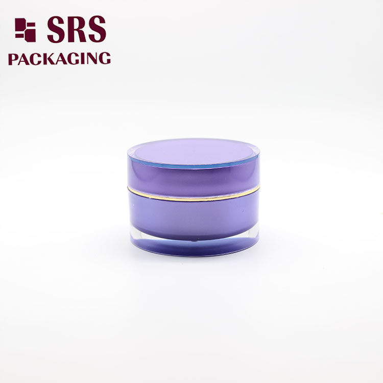 J021 Cosmetic Double Wall Purple 15g 30g 50g Cream Container Jar