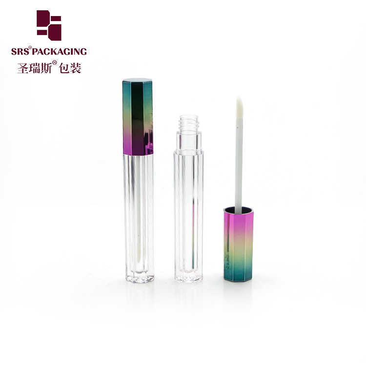 Empty makeup container 3ml rectangle luxury lipgloss packaging in stock low moq