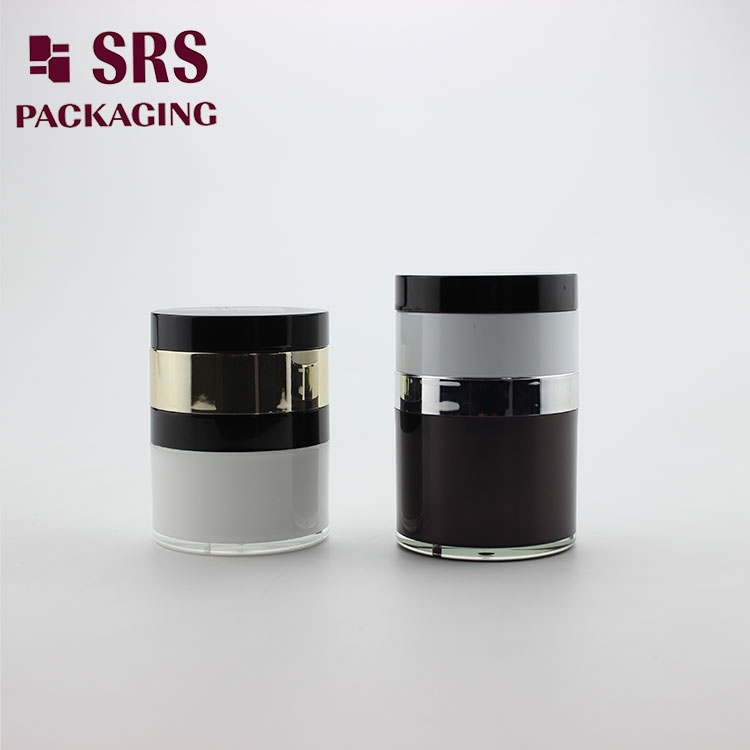 A102 Face cream containers wholesale empty acrylic airless jar with mirror