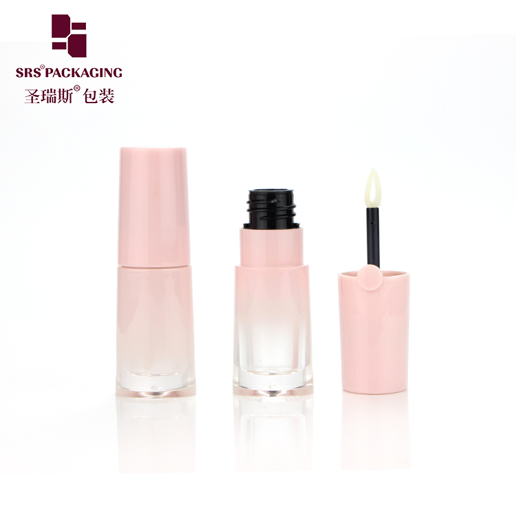 Factory wholesale custom lip blam oil tubes unique round pink lipgloss tube