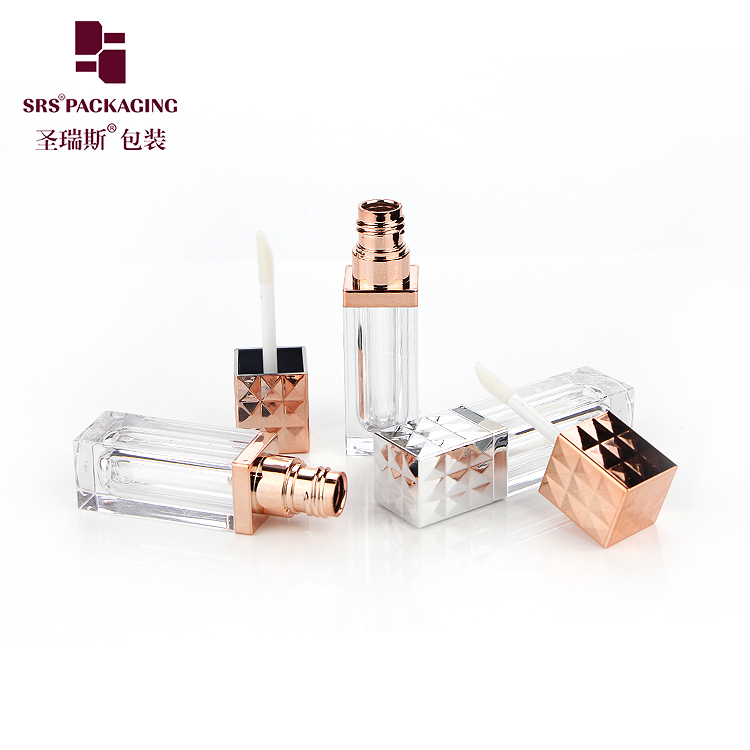 High Quality Empty Square Lip Gloss Tube Plastic Containers Cosmetic Packaging