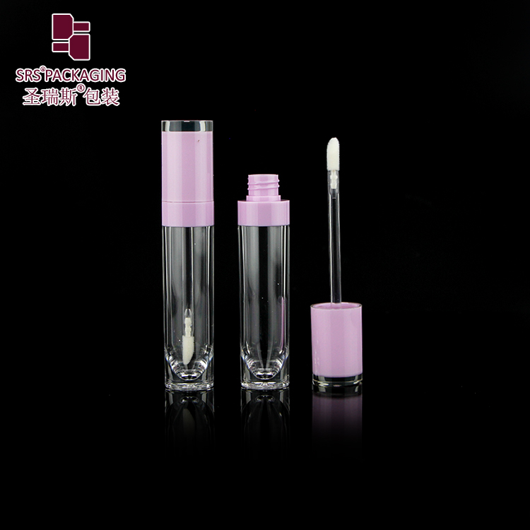 High Quality Newest Stock Wholesale 10ml Clear Crystal Cylinder Transparent Empty Lip Gloss Tube