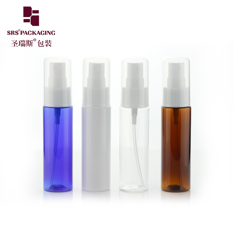 Hot Sale 30ml 50ml 100ml Plastic PET colorful Spray Bottle Packing Alcohol Disinfectant