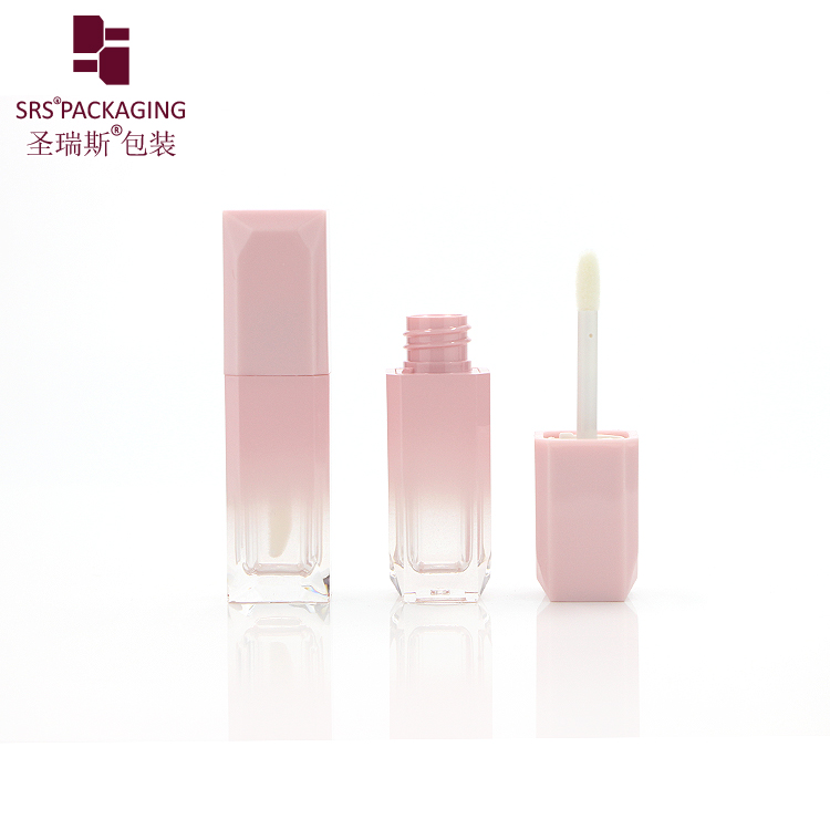 Latest design superior quality private label empty fancy custom pink lip gloss tube