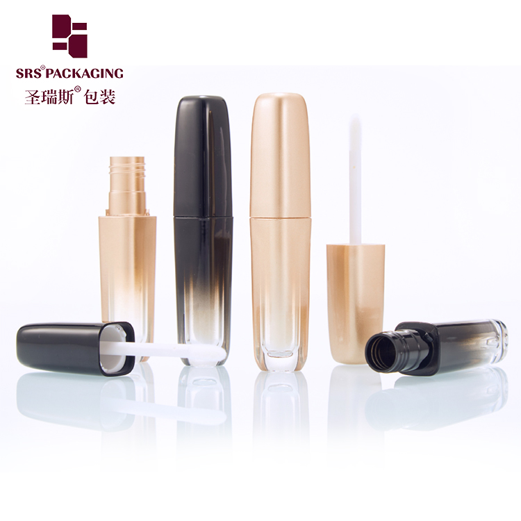 MOQ 20 in stock custom lip gloss tubes 5ml plastic make up cosmetic packaging