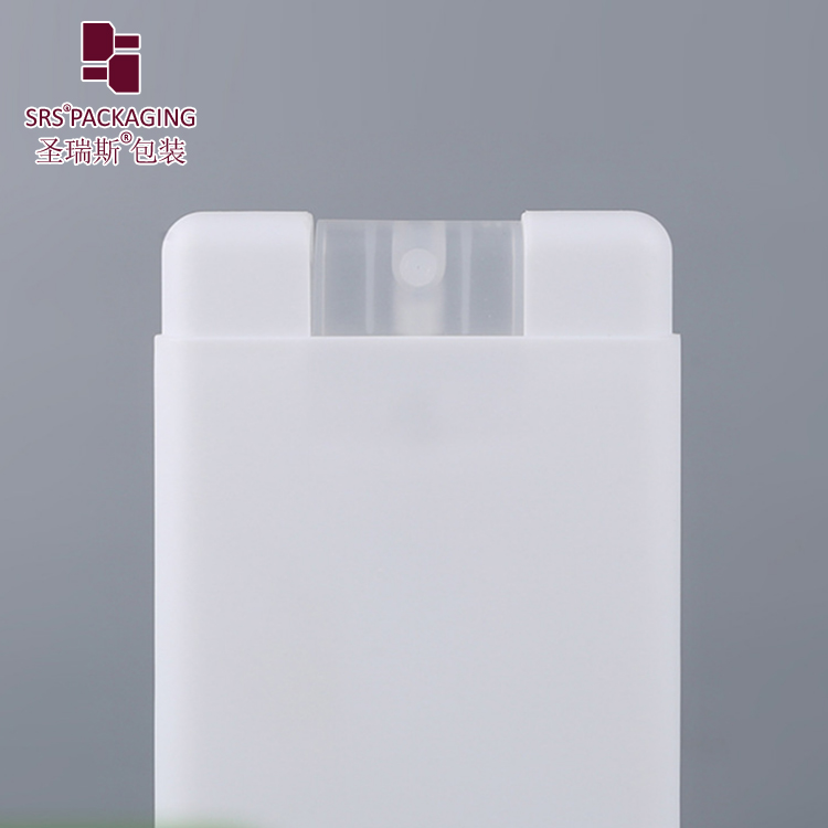 New cosmetic empty packaging square spray bottle 20ml pocket credit card mist sprayer bottles