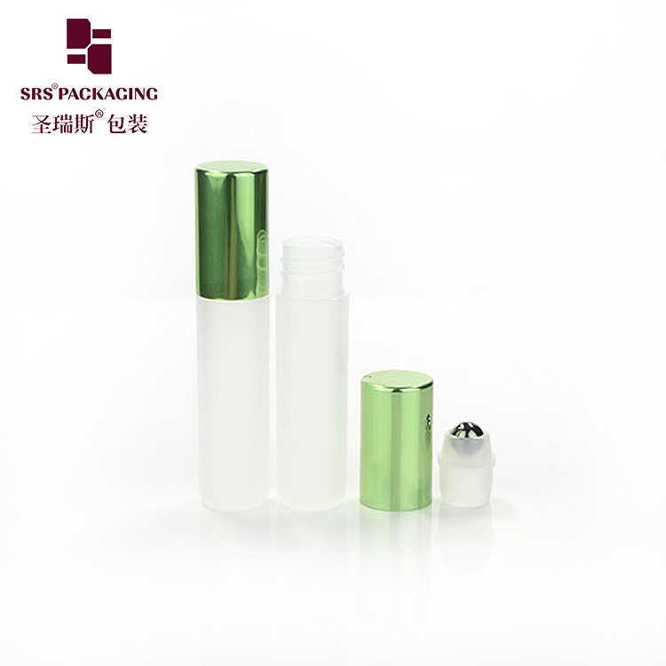 5ml customized color plastic recycle PP roller perfume bottle with aluminum cap