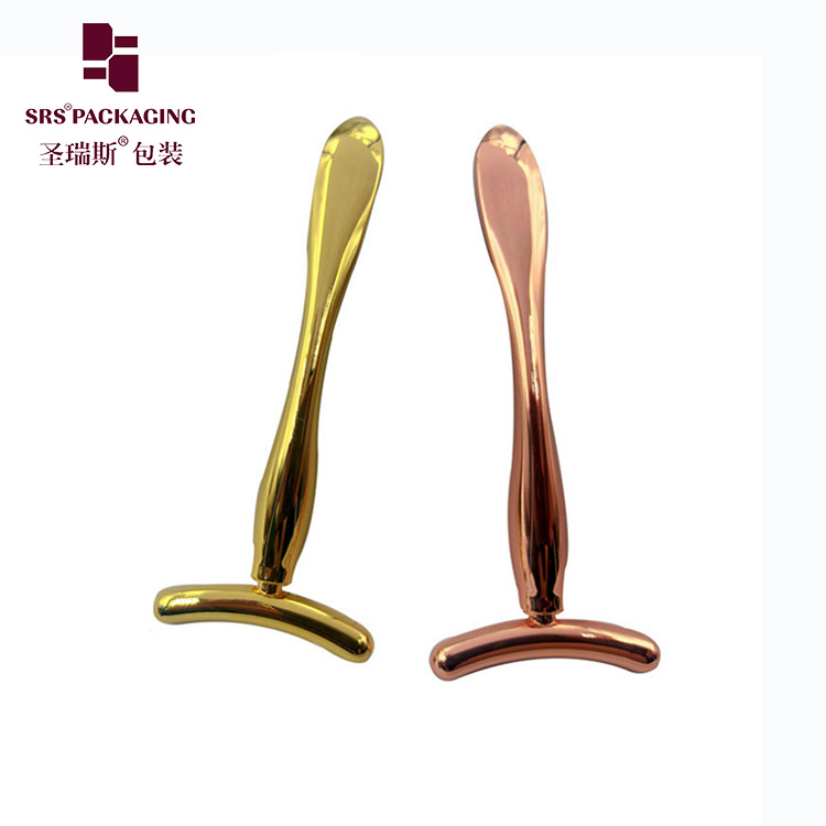 Rose gold face cream spoon skin lift personal care cosmetic  metal roller make up tools
