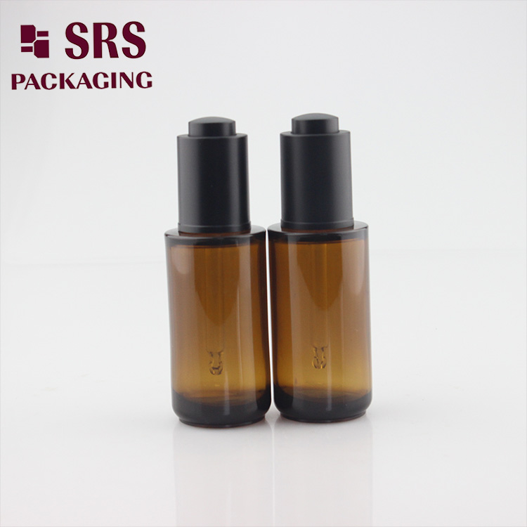 SRS 25ml PETG amber round environment-friengly plastic bottle dropper