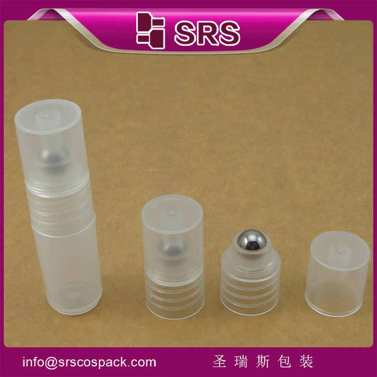 SRS-3ml 5ml 7ml 8ml refilled empty plastic roll on bottle