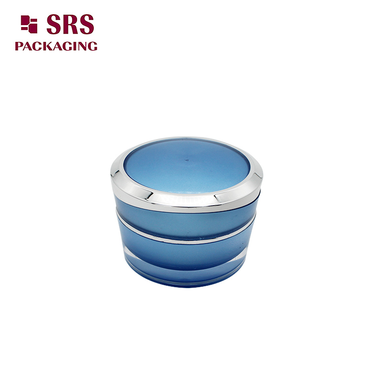 J031 SRS Acrylic Face Cream Blue Color Cosmetic Jar 30g