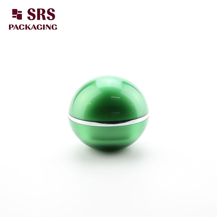 J010 SRS Ball Shape green Skin Care Cream 30g Acrylic Jar