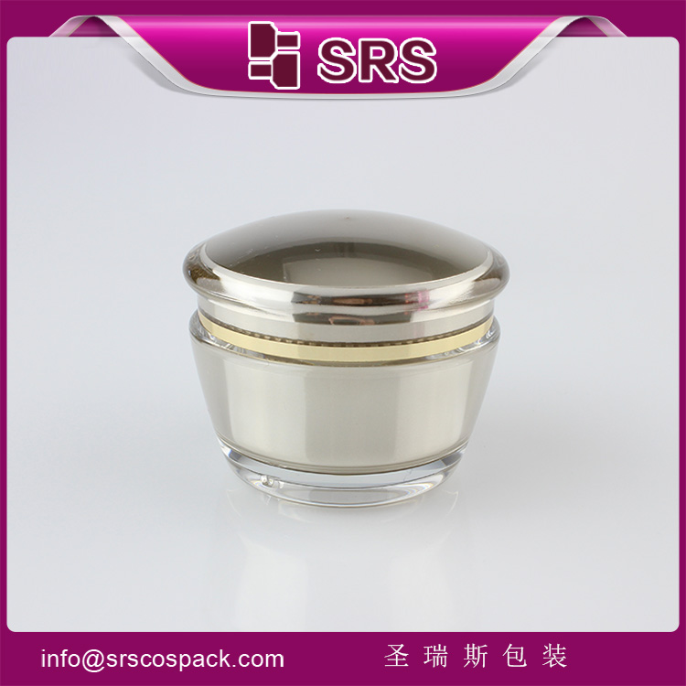 J035 SRS Cosmetic Gold Color Plastic Skin Care luxury Jar