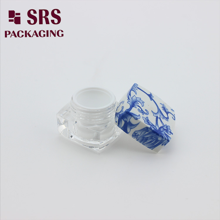J050 SRS Wholesale Square Acrylic Cosmetic Nail Jars 10g