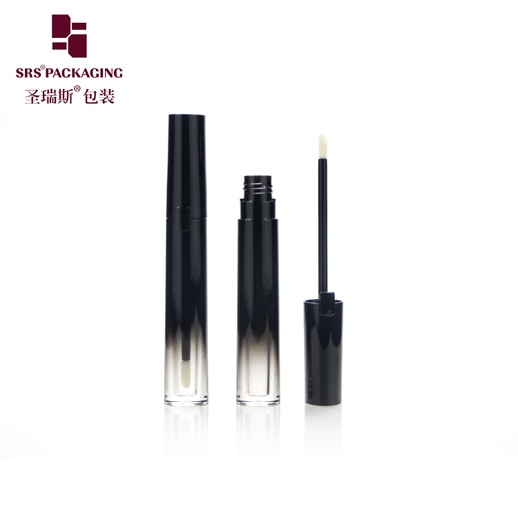 SRS new arrival high quality competitive price 2ml round shape gradient black lipgloss tube