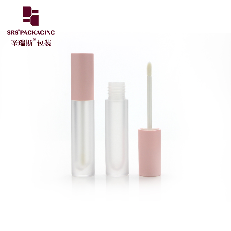 SRS new arrival high quality competitive price long and thin round shape clear matte lipgloss tube